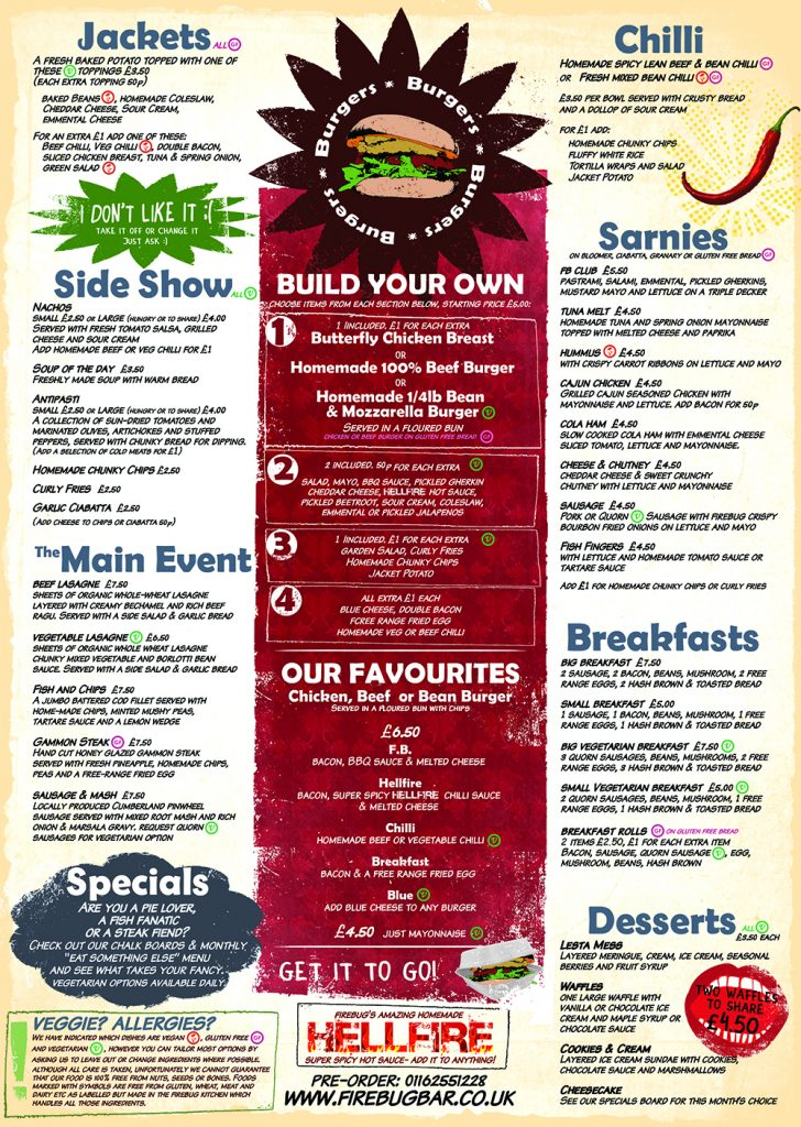 food menu 2013 newest