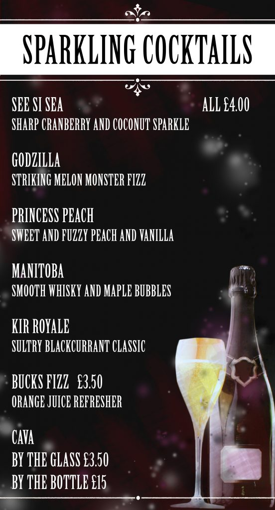 champagne cocktails poster