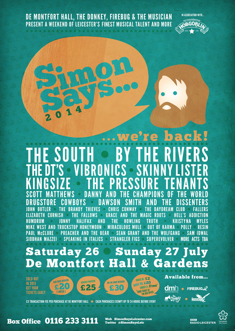 2014 Simon Says web poster